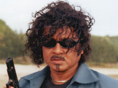 Rubel in a action mood in a film