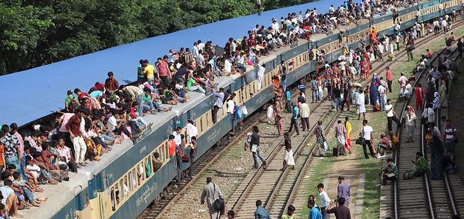 train journey in Bangladesh