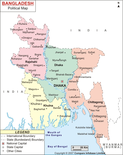Bangladesh Map