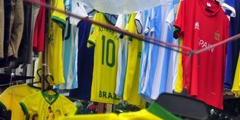 Brazil and Argentina jersey in Bangladesh