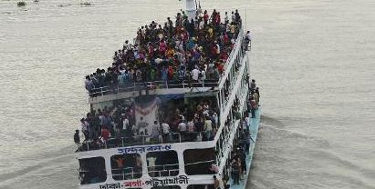 Launch sinks due to over loaded Bangladesh
