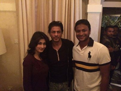 Shakib and wife shishir with Actor Shah Rukh Khan