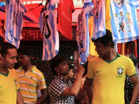 Fan of Brazil Argentina in Bangladesh
