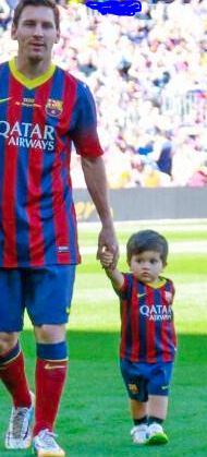 Messi son Thiago in Bercelona