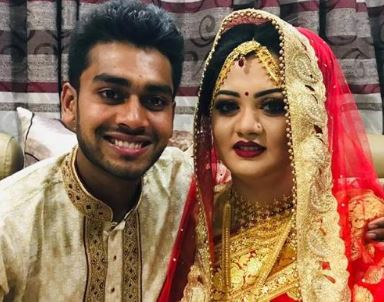 Mehidy Hasan Miraz and his Wife