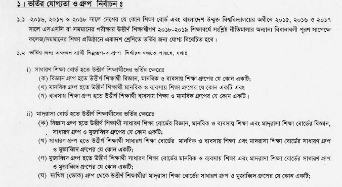 qualification for hsc admission